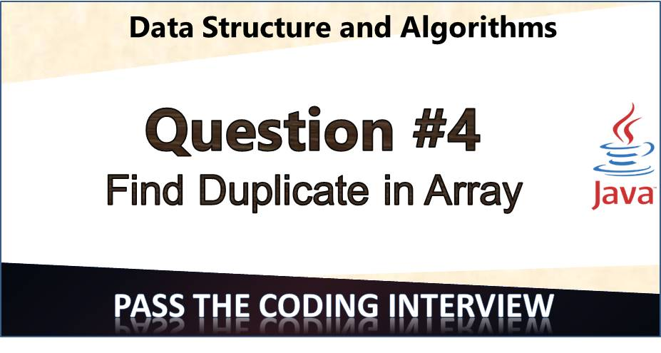 Find duplicate element in an array