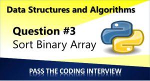Sort a Binary array