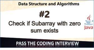 Check for subarray with zero sum