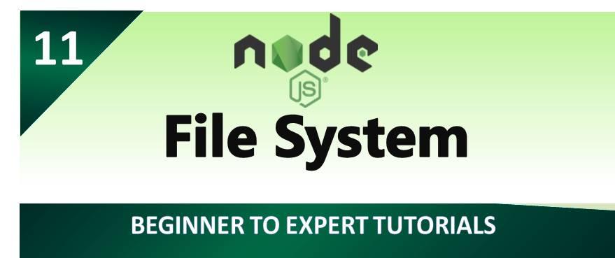 Node.js – File System