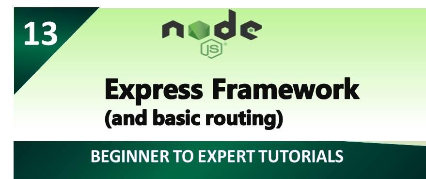 Node.js – Express Framework