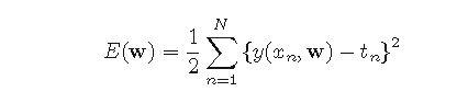 Sum of Squares Error Function