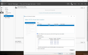 Creating a new iSCSI virtual drive