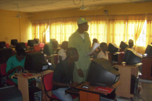 Figure 3.6: Conducting Awareness Program on the importance of Information Technology in the Federal College of Education (Technical) Omoku