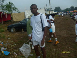 Figure 1.3: Engaging in sanitation work in camp