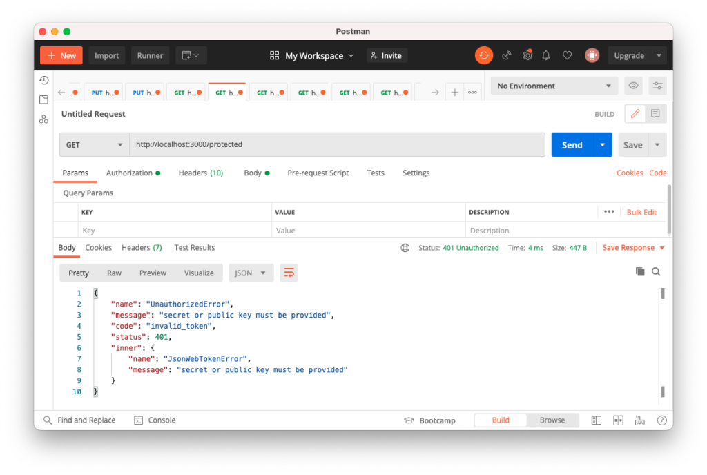 Accessing protected resource using Auth0